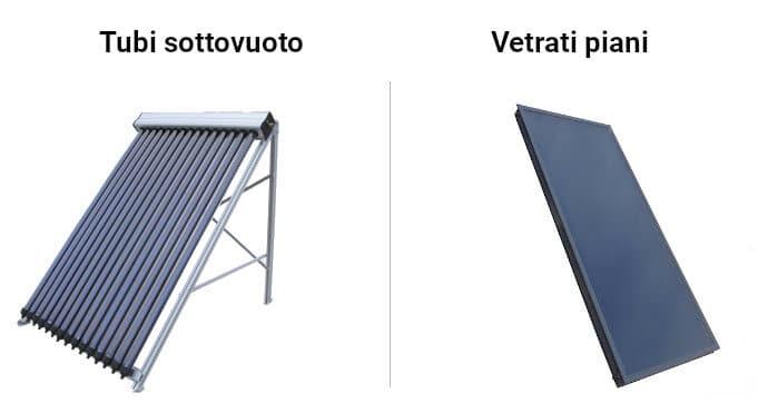 Tipologie di pannelli solari termici