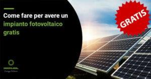 impianto fotovoltaico gratis