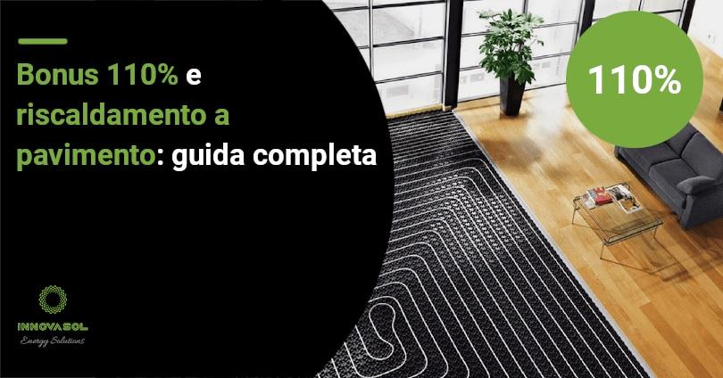 pavimento radiante ecobonus 110%